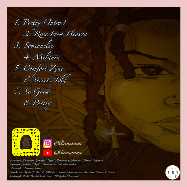 Brooxana - Poetry CD Cover Back